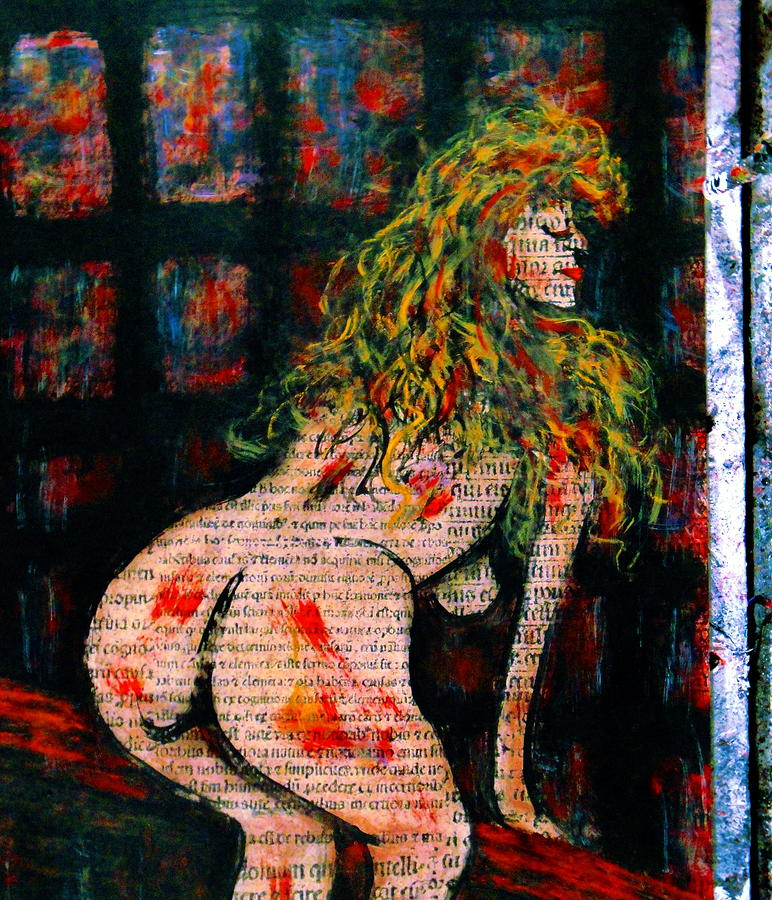Nude Woman Painting - What Are You Looking At-15 by Natalie Holland