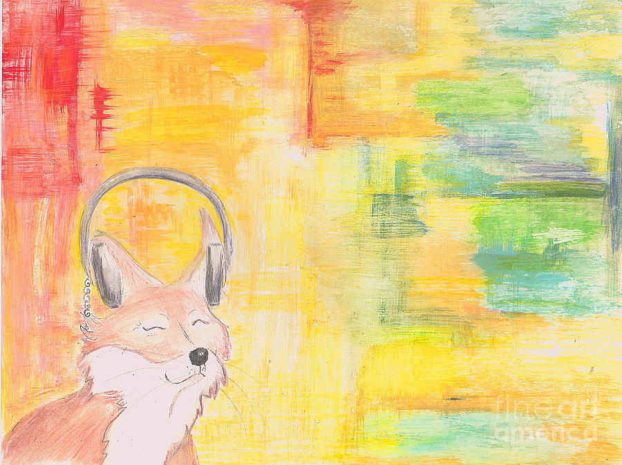 Fox Painting - What Does The Fox Hear? by Tree Girly