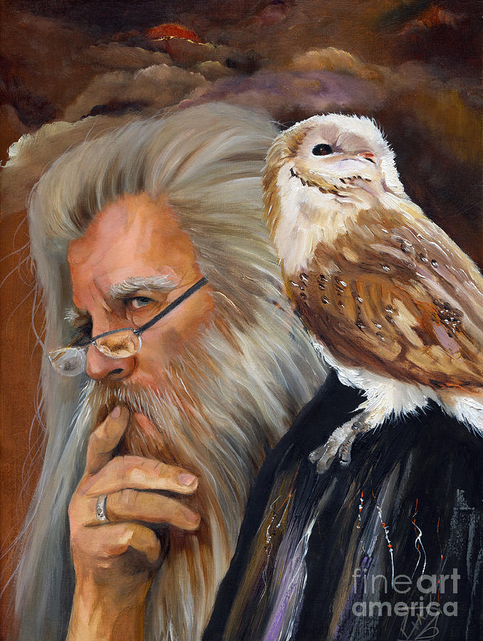 Wizard Painting - What If... by J W Baker