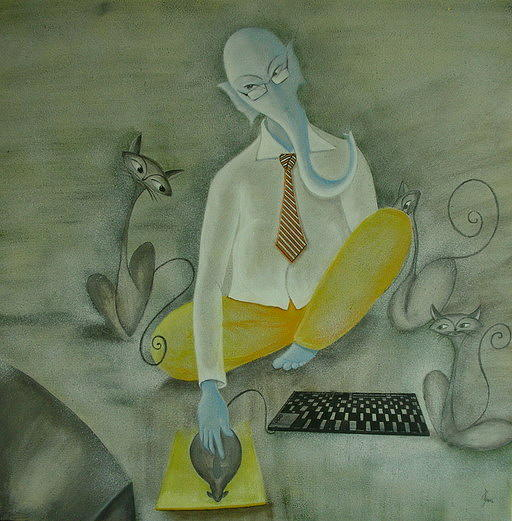 Ganapati Painting - What Is Going On  by Devyani Parikh