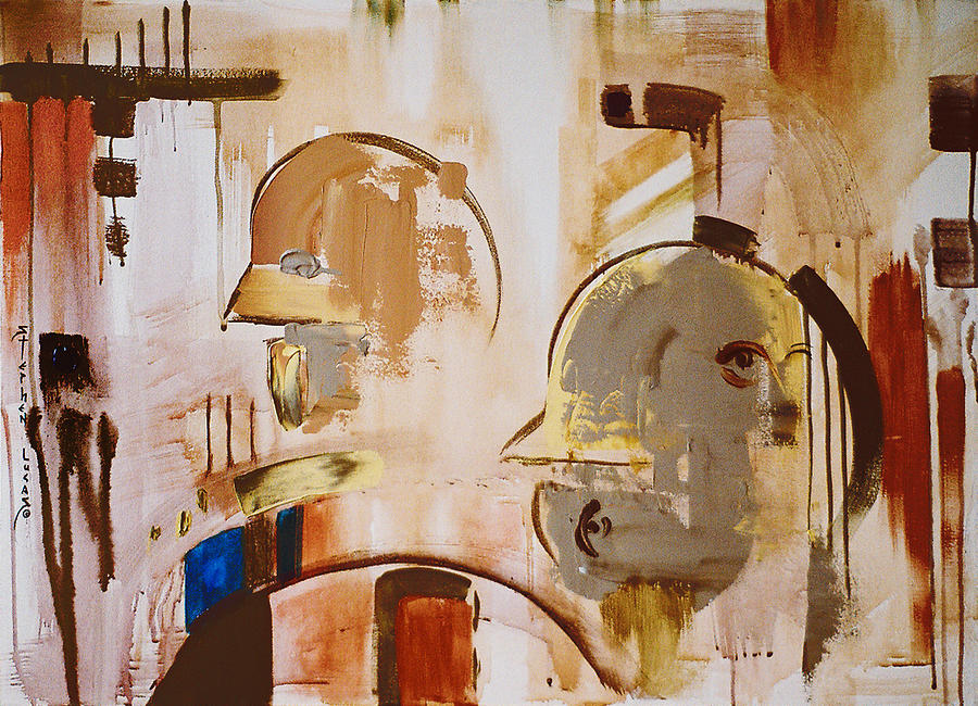 Abstract Painting - What is Identity by Stephen Lucas