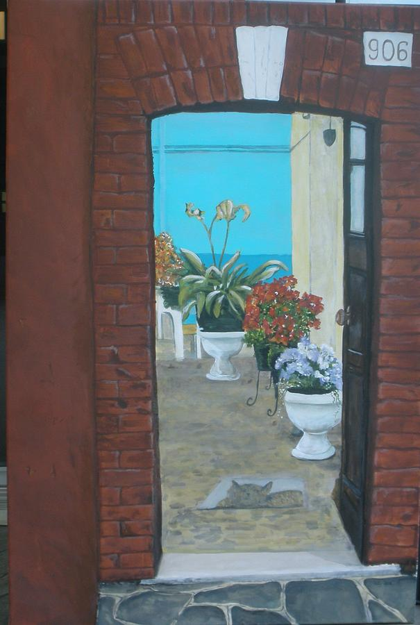 Doorway Painting - What Is Inside... by Betty-Anne McDonald