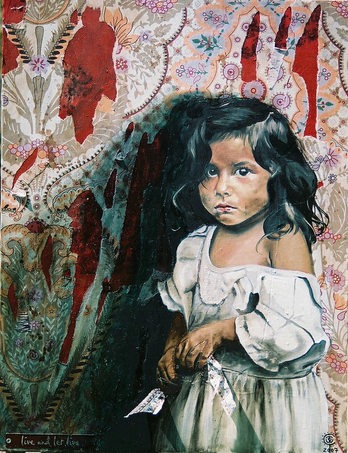 Asian Girl Painting - What Is My Worth by Teresa Carter