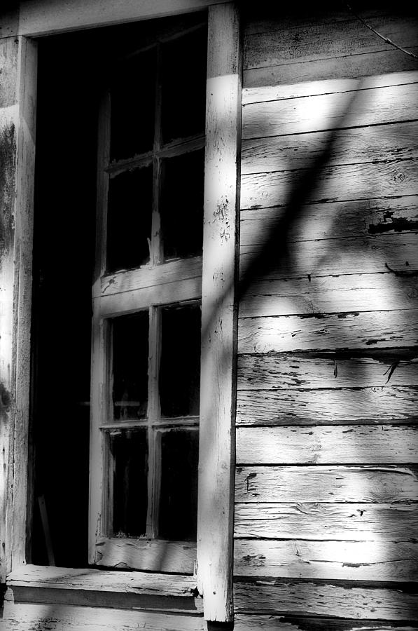 Window Photograph - What Lies Behind by Emily Stauring