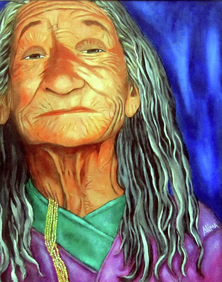 Native American Painting - What She Went Through by Alima Newton