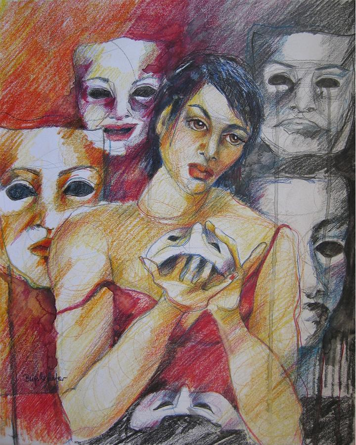 Drawing Drawing - What Should I Wear Today by Brigitte Hintner