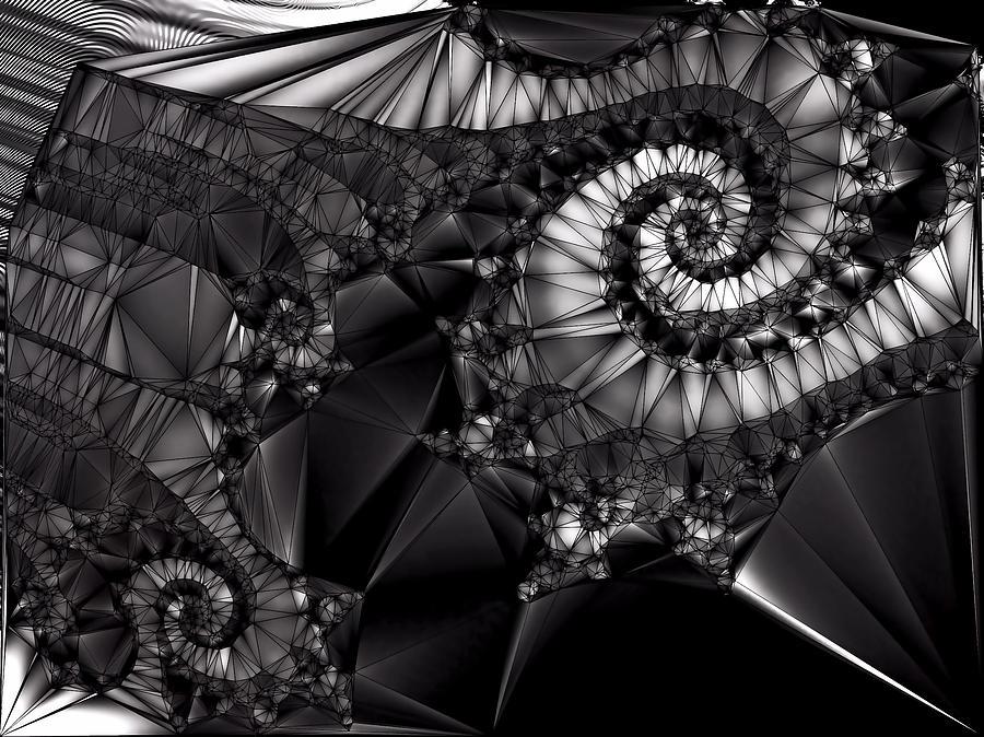 Black Abstract Digital Art - What Tangled Webs We Weave by Susan Maxwell Schmidt