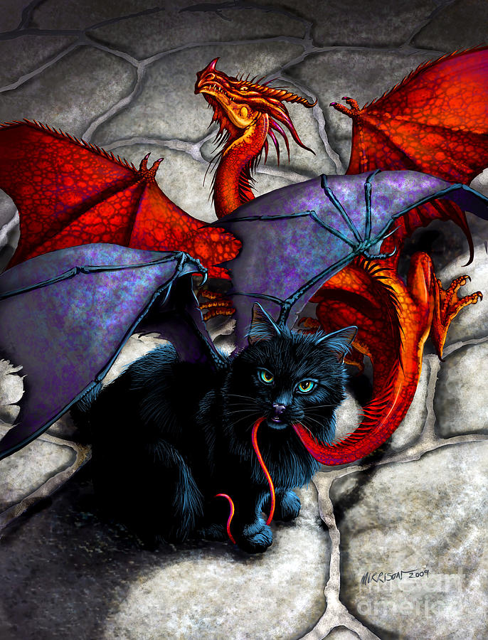 Fantasy Digital Art - What The Catabat Dragged In by Stanley Morrison