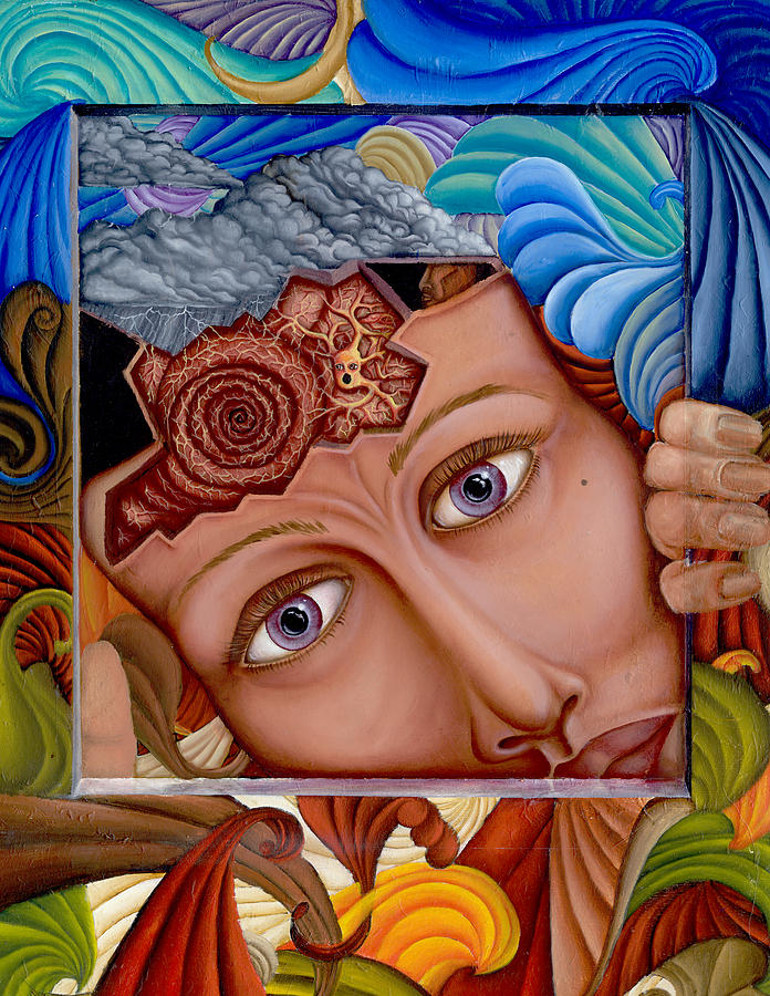 Oil Painting - What The Mind Feels by Karen Musick