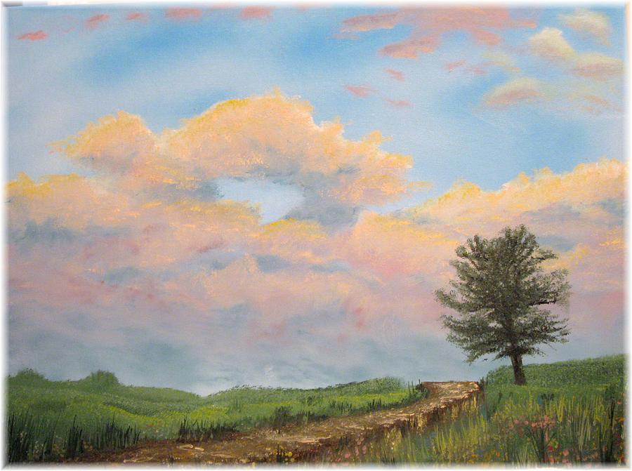 Tree Painting - What The Tree Gets To See by Kenneth McGarity