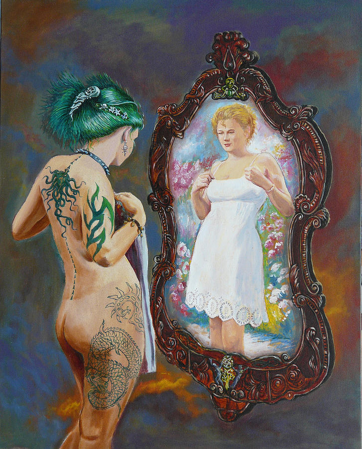 Nude Painting - What The World Sees by Tomas OMaoldomhnaigh