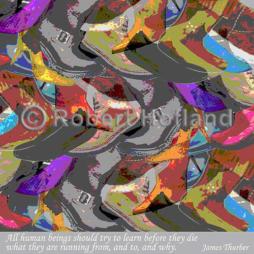 Quotes Digital Art - What They Are Running From by Robert Hofland