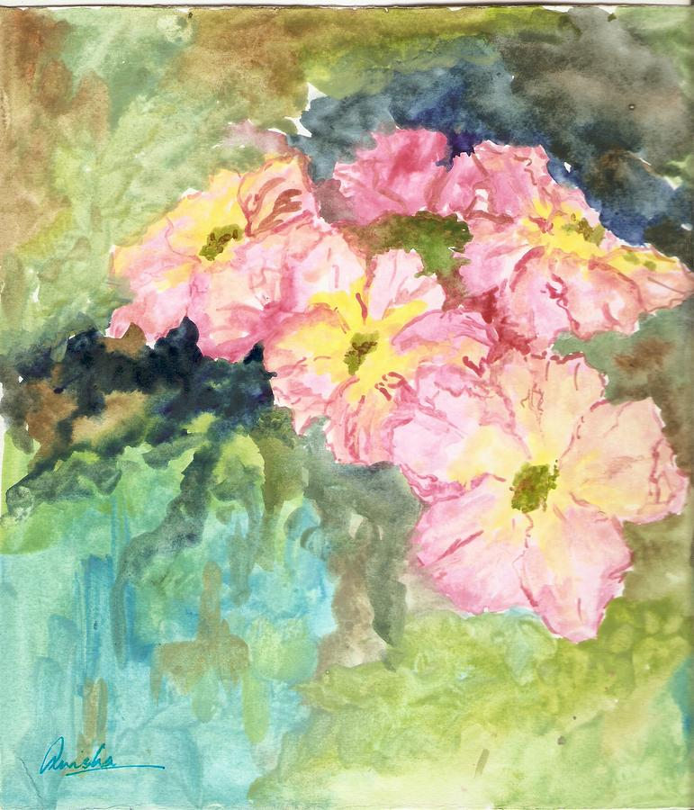 Flowers Painting - Whateva by Anisha Bordoloi