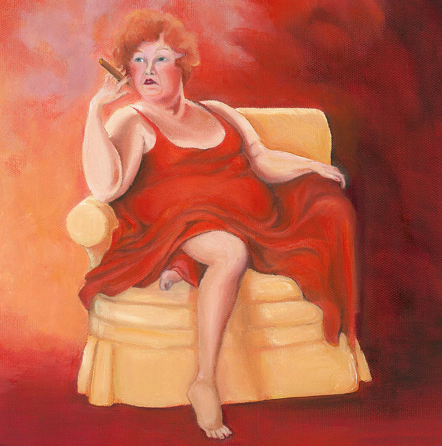 Lady In Red Painting - Whatever Happened to the Dreams by Irene Corey