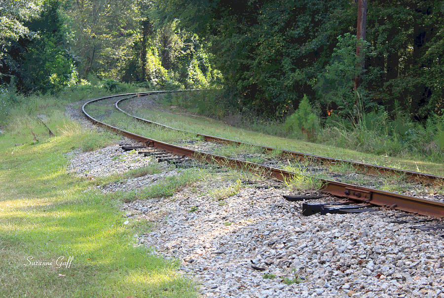 Railroad Photograph - Whats Around The Bend by Suzanne Gaff