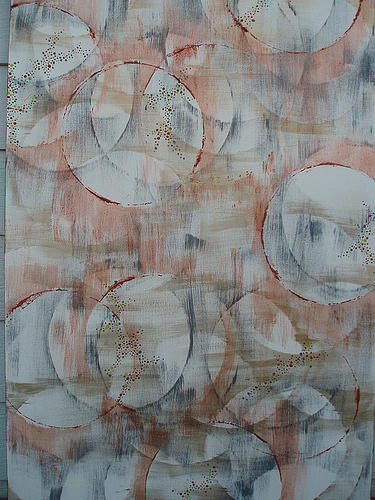 Circles Painting - Whats The Difference by Kristin Miller