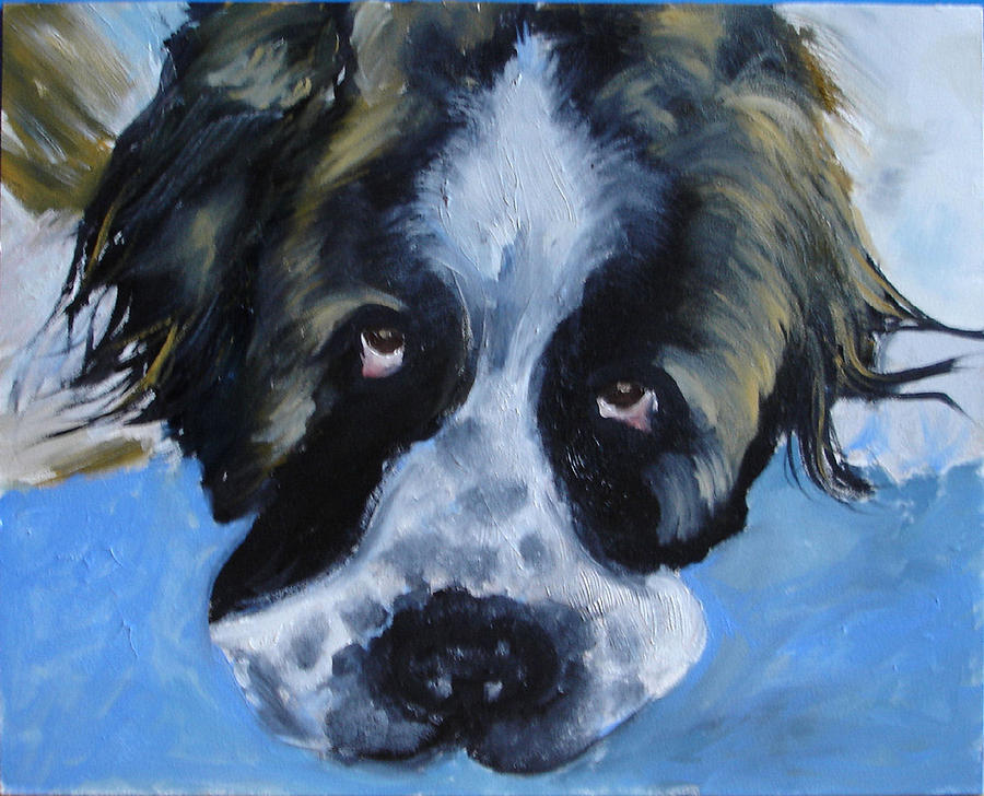 Dog Painting - Whats Up by Laura Leigh McCall
