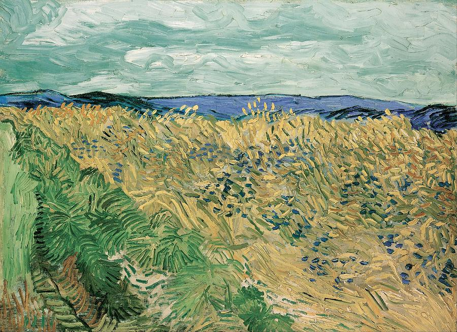 Nature Painting - Wheat Field With Cornflowers At Wheat Fields Van Gogh Series, By Vincent Van Gogh by Artistic Panda