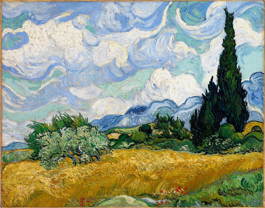 Vincent Van Gogh Painting - Wheatfield With Cypresses by Van Gogh