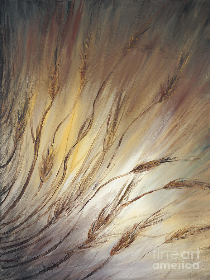 Wheat Painting - Wheat In The Wind by Nadine Rippelmeyer