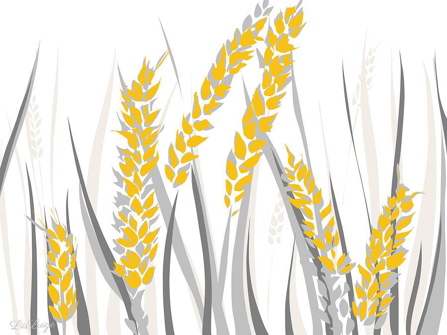 Wheat Drawing By Liis Luige