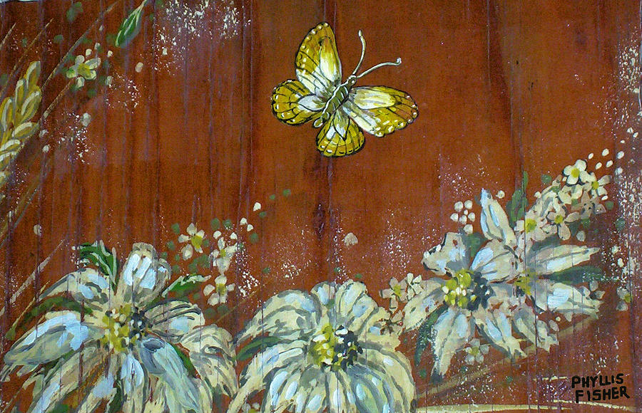 Wildflowers Painting - Wheat n Wildflowers IIi by Phyllis Mae Richardson Fisher