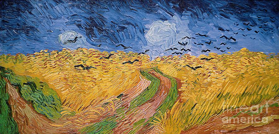 Van Painting - Wheatfield With Crows by Vincent van Gogh