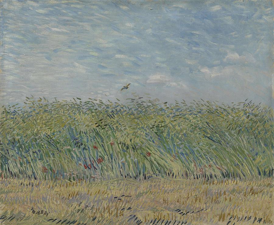 Nature Painting - Wheatfield With Partridge Paris, June - July 1887 Vincent Van Gogh 1853 - 1890 by Artistic Panda
