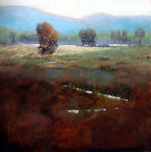 Wheatfields 24x24  Painting by Shirley McKay