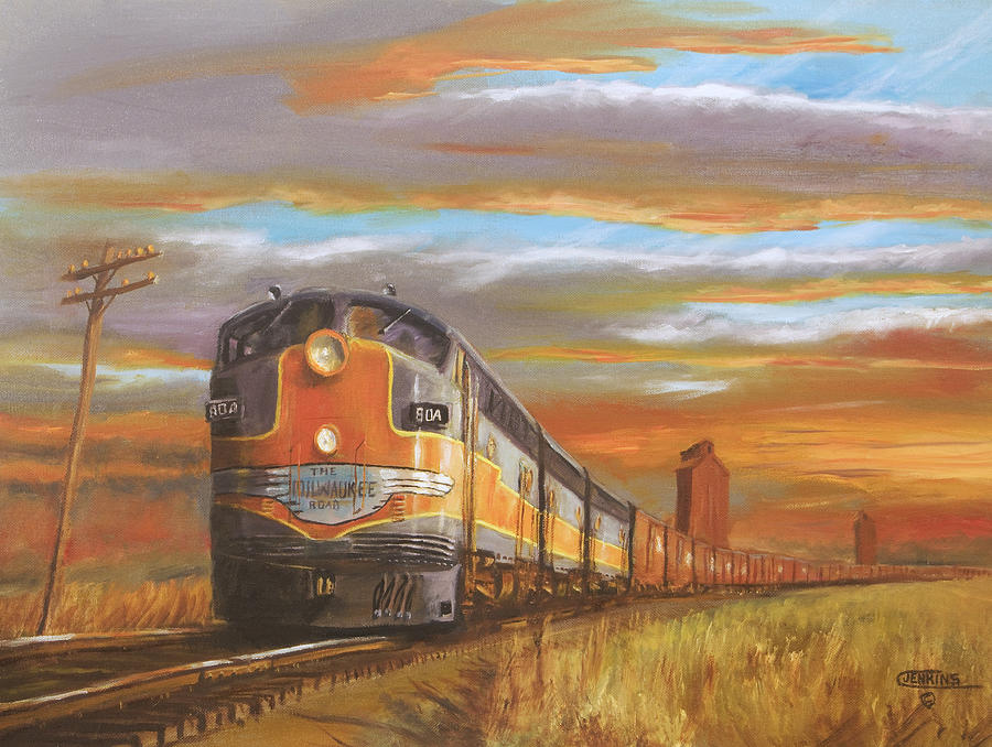 Railroad Painting - Wheat....from North Dakota by Christopher Jenkins