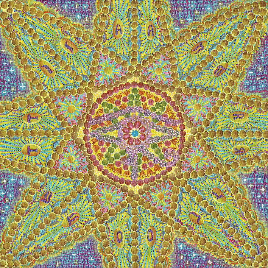 Star Painting - Wheel of Fortune by Vera Tour
