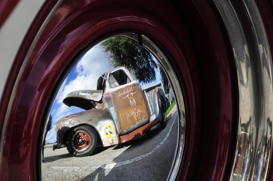 Old Truck Photograph - Wheel Reflections by David Lee Thompson