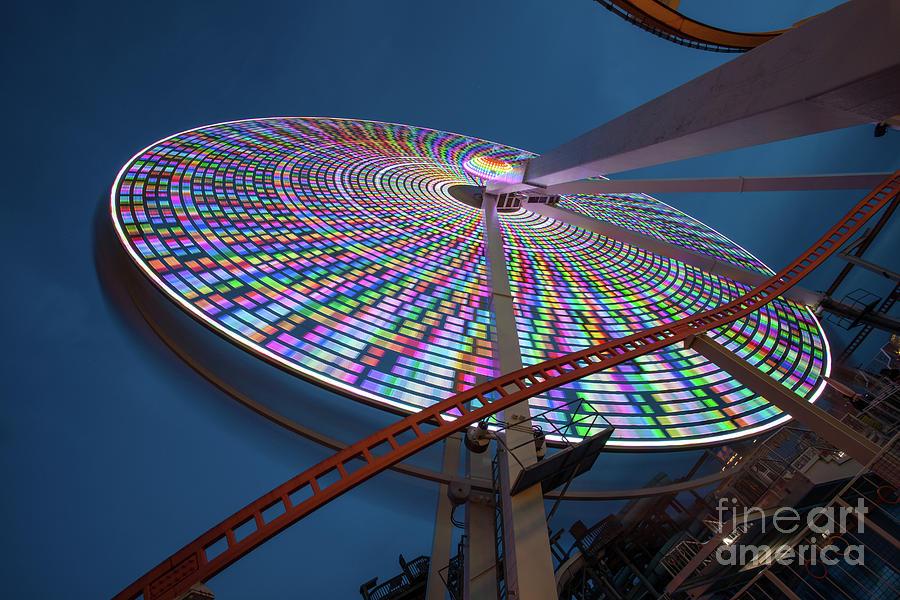 Wheel Tilt Twilight by Stephen McDowell