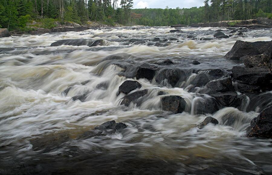 Bwcaw Photograph - Wheelbarrow Falls by Larry Ricker