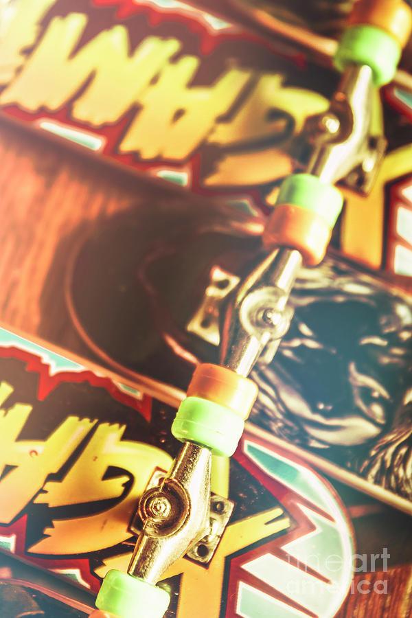 Skateboarding Photograph - Wheels Trucks And Skate Decks by Jorgo Photography - Wall Art Gallery