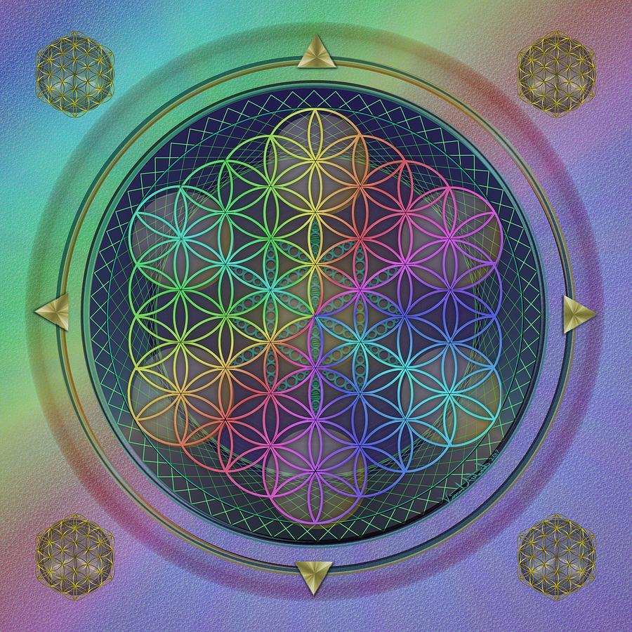 Flower Of Life Digital Art - Wheels Within Wheels by Vincent Autenrieb