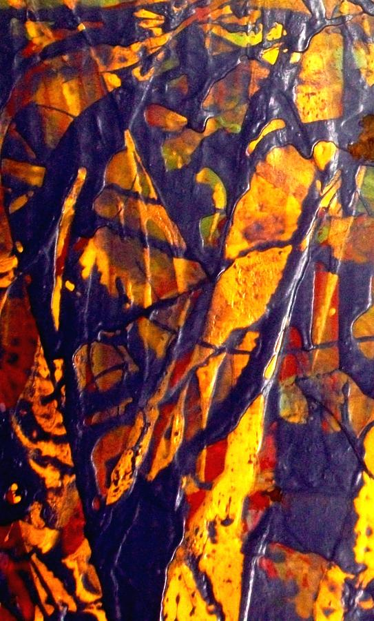 Abstract Painting - When A Tree Falls Alone In A Forest 1 by Bruce Combs - REACH BEYOND