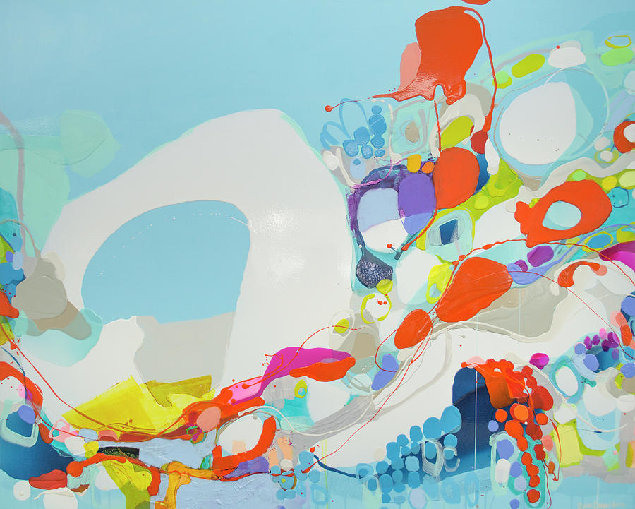 Abstract Painting - When Alexa Moved In by Claire Desjardins