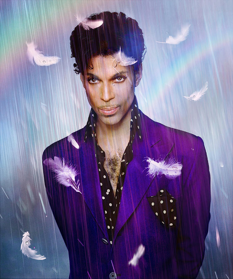 Prince Digital Art - When Doves Cry by Mal Bray