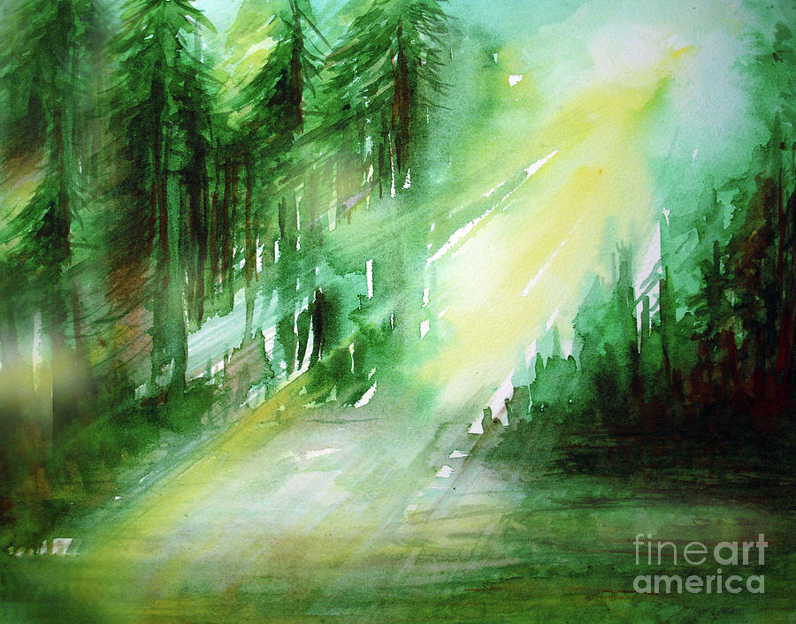 When Forest Sings Painting