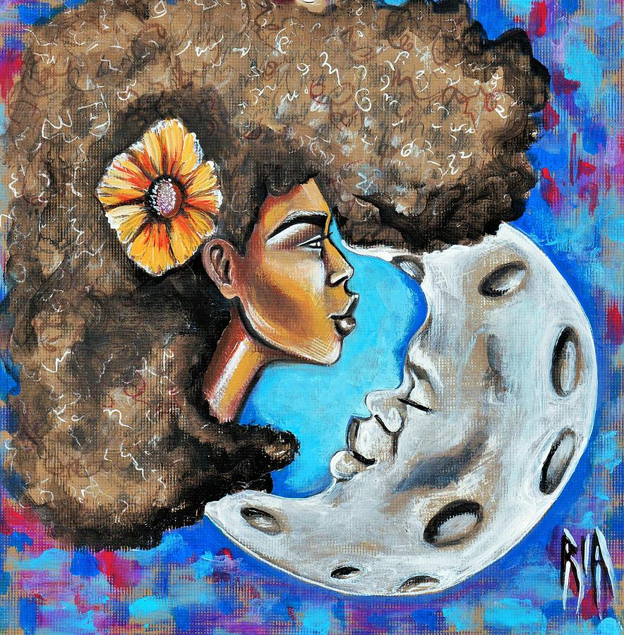 When He Gave You The Moon Painting by Artist RiA