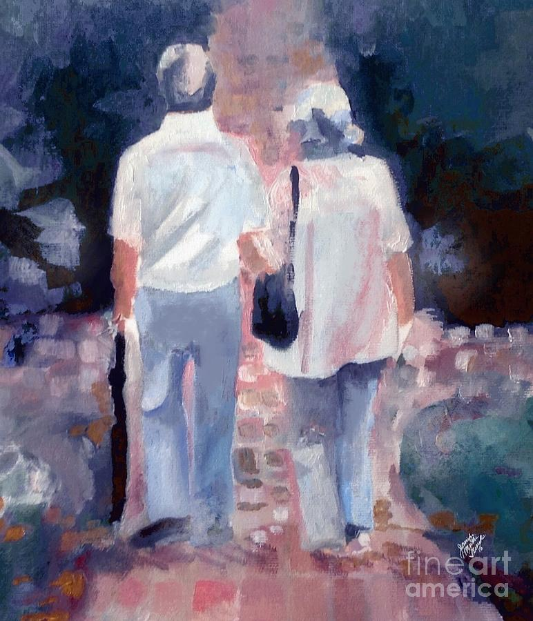 Couple Painting - When I get Where Im Going by Jennifer Buerkle