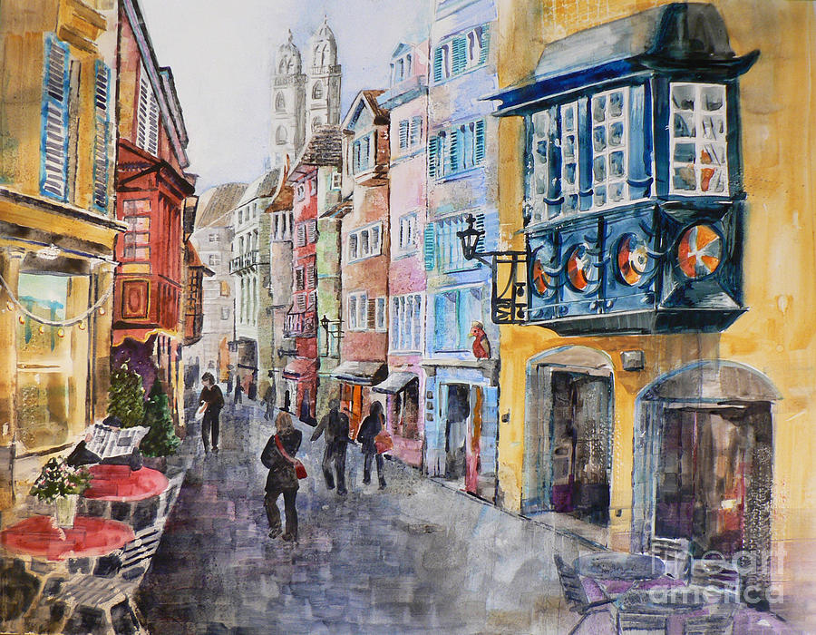 Watercolor Painting - When In Zurich by Catalina Rankin