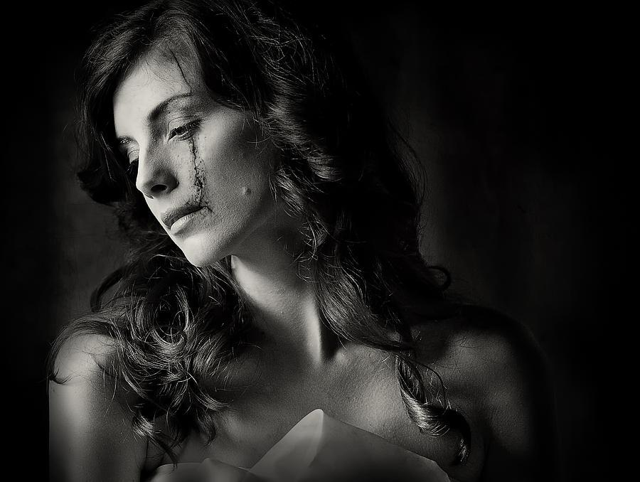 Portrait Photograph - When Love And Hate Collide by Hardibudi