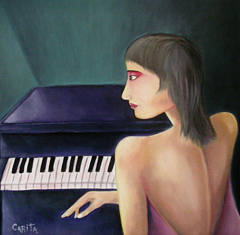 When Music Stops... Painting by Joao Carita