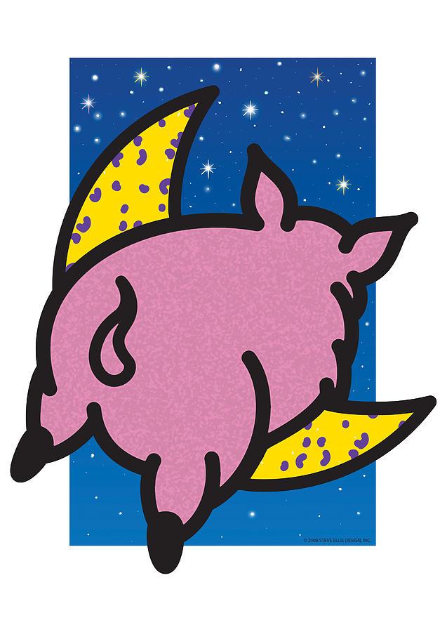 Flying Pig Painting - When Pigs Fly by Steve Ellis