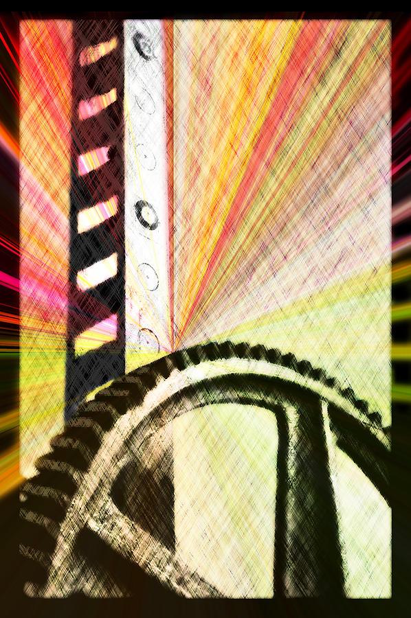 Rack Digital Art - When Rack And Pinion Spark -- Zahnstangenfunkel by Arthur V Kuhrmeier