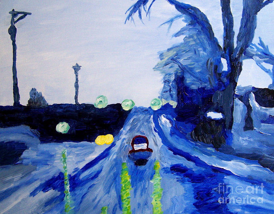 Landscape Painting - When Sonny Gets Blue by Kevin Croitz