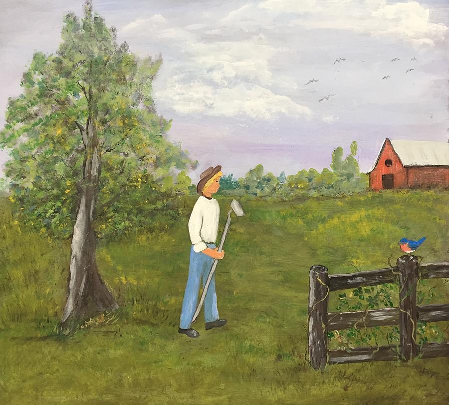 The Skinner Barn: When The Birds Return Painting By Evelyn Skinner