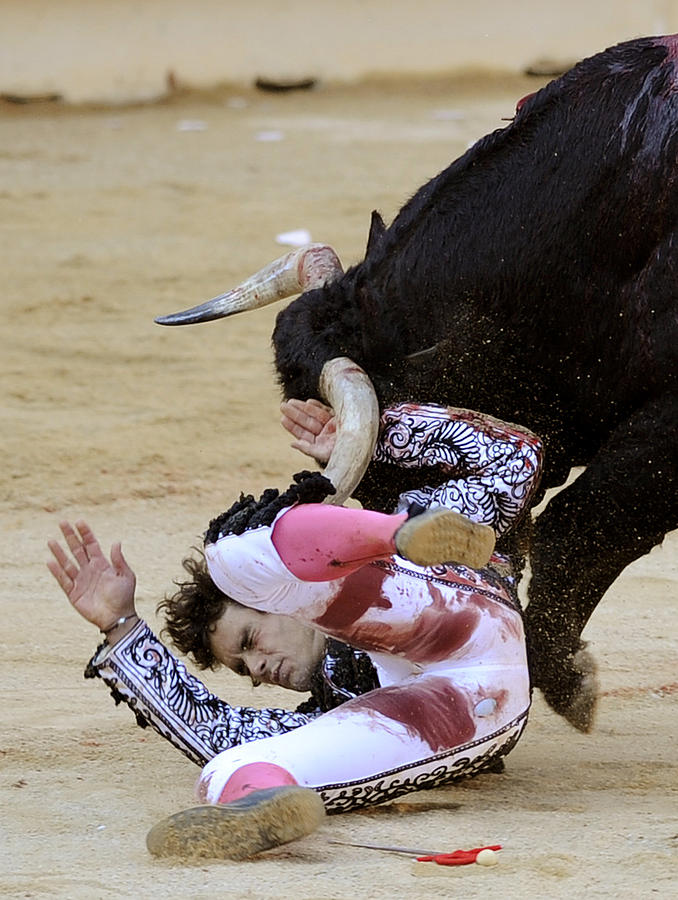 Spain Photograph - When The Bull Gores The Matador Iv by Rafa Rivas